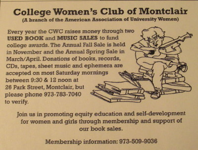 College Women's Club of Montclair Book Donations